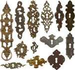Barock Rokoko Schlüsselschild antik alt historisch Landhausstil nostalgisch Möbelbeschläge Barock Beschläge Schrankbeschläge