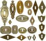 Klassizismus Schlüsselschilder aus Messing
