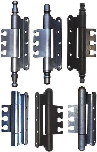 Objekttürband Simonswerk Variant VX 7939/160 FD, 7729/160 Aufnahmeelement mit verschiedenen Zierköpfen in alten Oberflächen