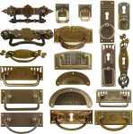 Beschläge Jugendstil Art Deco Griffbeschläge Messing Möbelbeschlag antik