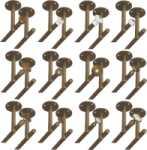 Rosette 9826 mit beidseitigem Deckenhalter für zweiläufige Vorhangstangen, Gardinenstangen für Deckenmontage, Messing poliert
