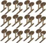 Rosette 9827 mit beidseitigem Deckenhalter für zweiläufige Vorhangstangen, Gardinenstangen für Deckenmontage, Messing poliert
