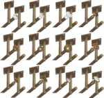 Rosette 9828 mit beidseitigem Deckenhalter für zweiläufige Vorhangstangen, Gardinenstangen für Deckenmontage, Messing poliert