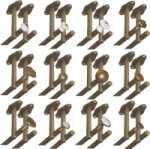 Rosette 9829 mit beidseitigem Deckenhalter für zweiläufige Vorhangstangen, Gardinenstangen für Deckenmontage, Messing poliert