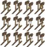 Rosette 9830 mit beidseitigem Deckenhalter für zweiläufige Vorhangstangen, Gardinenstangen für Deckenmontage, Messing poliert