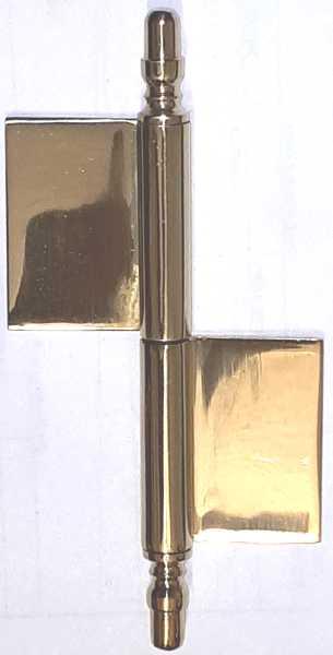 Fenster-Fischband nostalgisch, Messing antik, Fitsche, Einstemmband