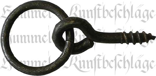 Ring, Eisen gerostet und gewachst, 26 mm, antik, alt. Aus Eisen Draht gefertigt.