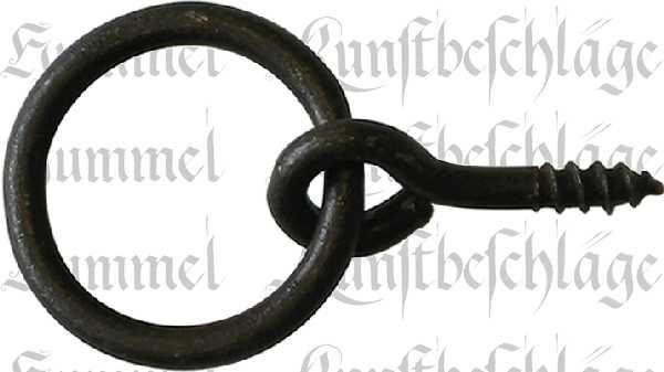 Ring, Eisen gerostet und gewachst, 34 mm, antik, alt. Aus Eisendraht gefertigt.
