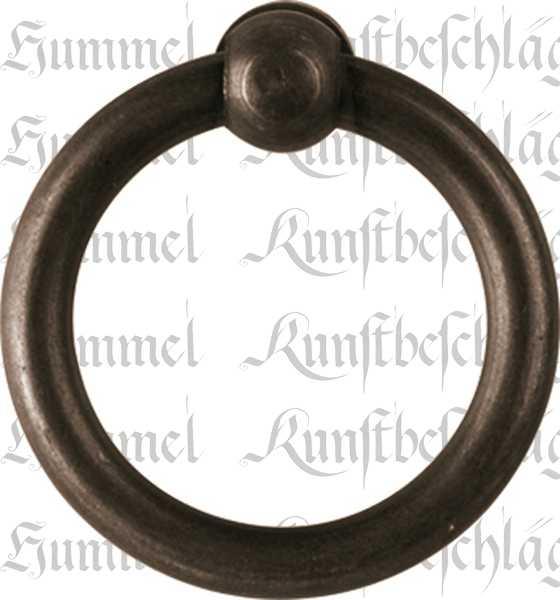 Ring, Eisen gerostet und dann gewachst, 30 mm, antik, alt. Aus Draht gefertigt.