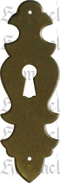 Schlüsselschild, Messing patiniert, Schrankbeschläge antike