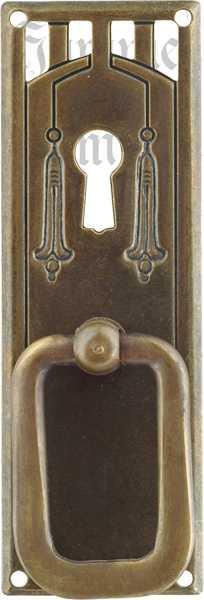 Schrankgriffe antik, Möbelgriff alt, Ringgriff antiker, Möbel Griff aus Messing patiniert