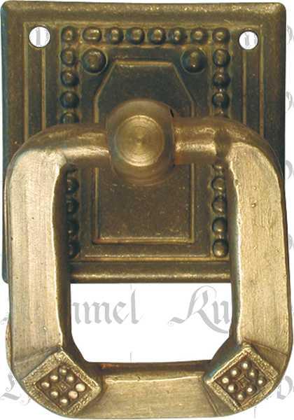 ringgriff rustikal messing patiniert m belbeschl ge jugendstil antike m belgriffe messing 1398 7. Black Bedroom Furniture Sets. Home Design Ideas