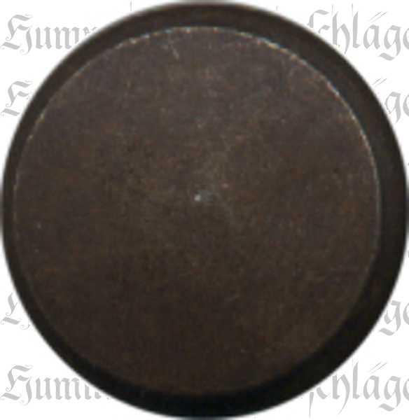Möbelknopf, Ø 20mm, Eisen gerostet und gewachst, gedreht, antike Oberfläche
