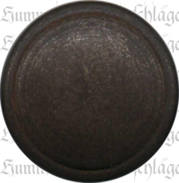 Möbelknopf, Knopf Eisen gerostet und gewachst, Ø 30mm, gedreht, rustikale Oberfläche