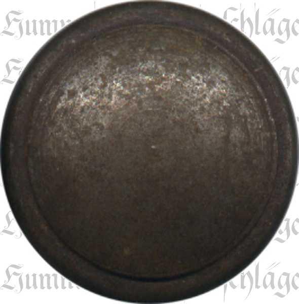 Möbelknopf, Ø 35mm, Eisen gerostet und gewachst, gedreht, antikes Aussehen