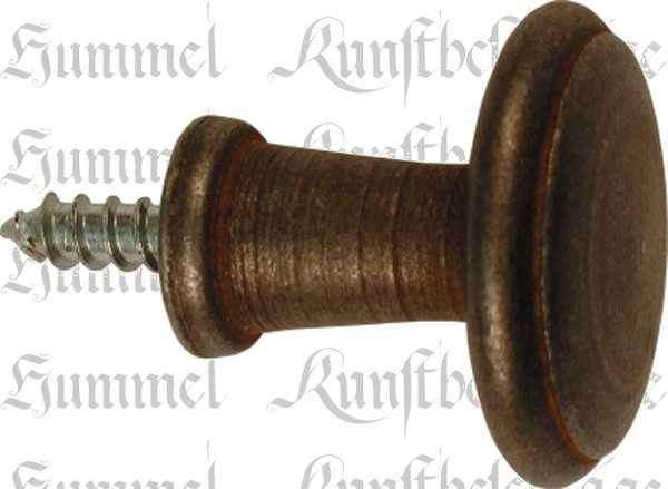 Möbelknopf, Ø 35mm, Eisen gerostet und gewachst, gedreht, antikes Aussehen Bild 2