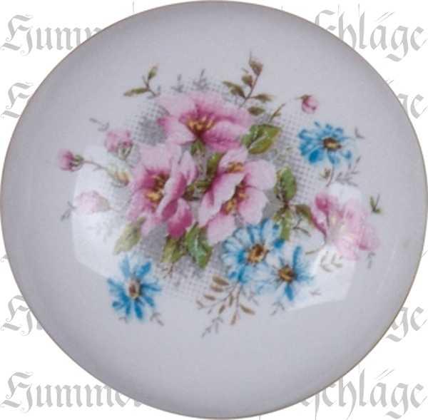 Schubladenknopf, Möbelknöpfe aus Keramik, Porzellanknopf, bemalt, Ø 31 mm