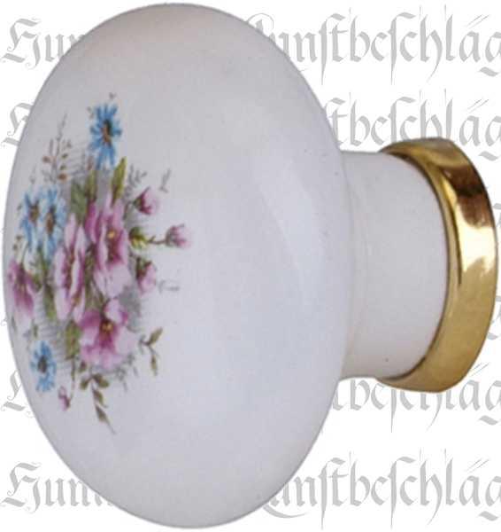 Schubladenknopf, Möbelknöpfe aus Keramik, Porzellanknopf, bemalt, Ø 31 mm Bild 2