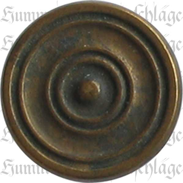Möbelknopf antik, Knopf, Ø 21mm, Messing patiniert, antike Oberfläche. Aus Messing gegossen