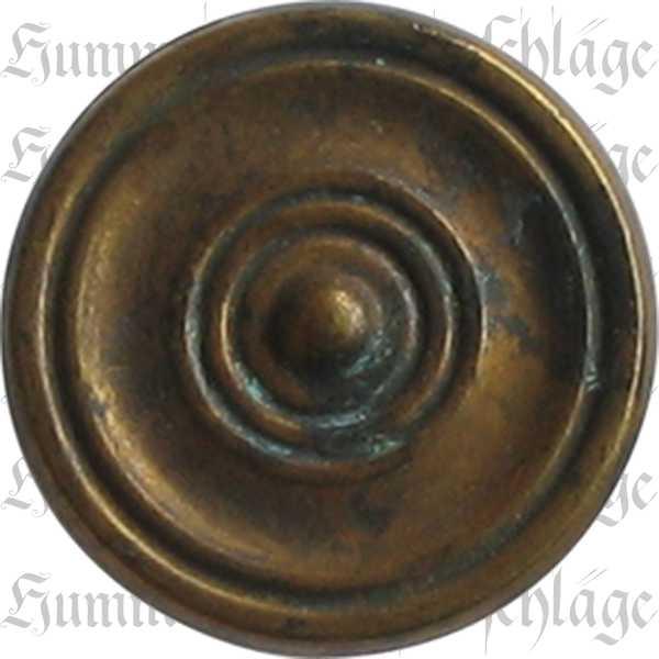Möbelknopf antik, Knopf mit alter Oberfläche, Ø 25mm, Messing patiniert. Aus Messing gegossen