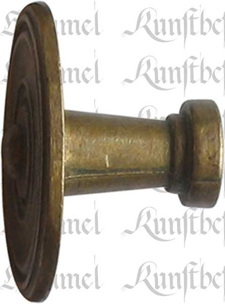 Möbelknopf antik, Knopf mit alter Oberfläche, Ø 25mm, Messing patiniert. Aus Messing gegossen Bild 2