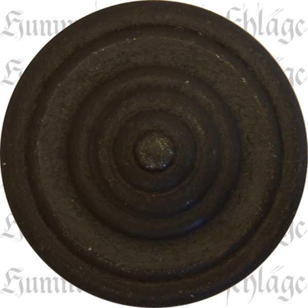 Knopf nostalgisch, Ø 35mm, Eisen gerostet dann gewachst, gedreht, Möbelknopf rustikal, Möbelknöpfe rustikale