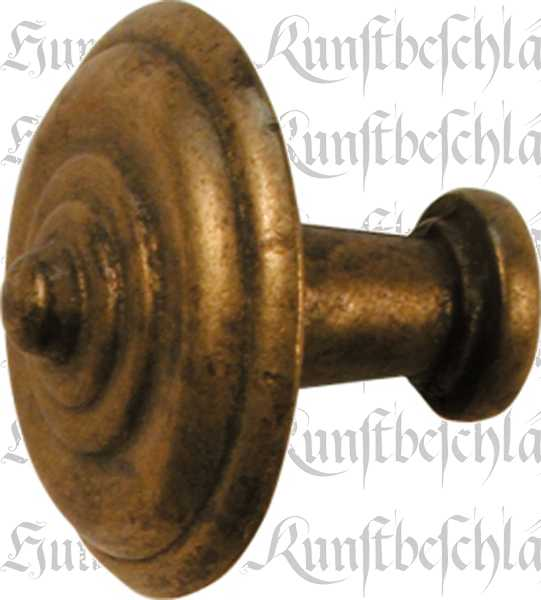 Knopf groß, Ø 45mm, Messing patiniert, Möbelknopf alt, antik, Möbelknöpfe antike, alte für Kommode Bild 2