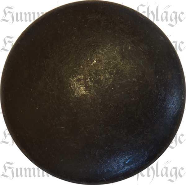 Knopf alt, Ø 35mm, Eisen gerostet und gewachst, gedreht, Möbelknöpfe antik, historisch