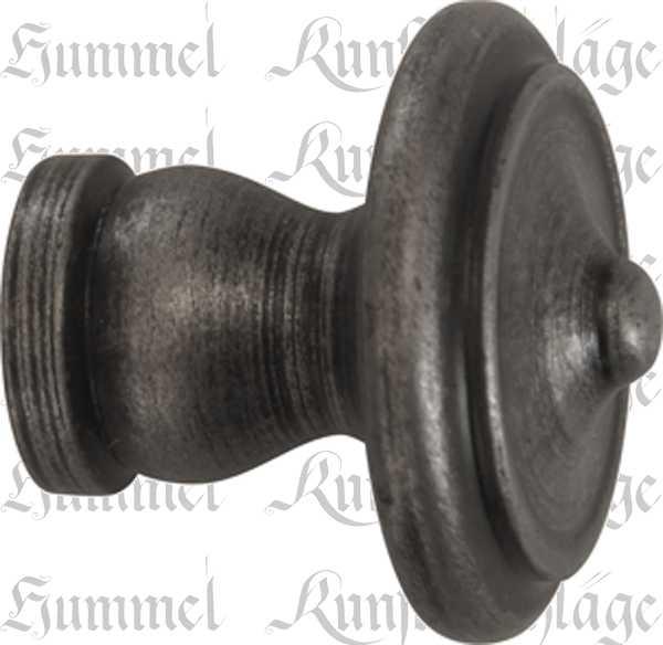 Möbelknopf rustikal, Ø 25mm, Eisen altgrau, Küche, Küchenknopf, Möbelknöpfe rustikale, perfekte antike Oberfläche für Küchen Bild 2