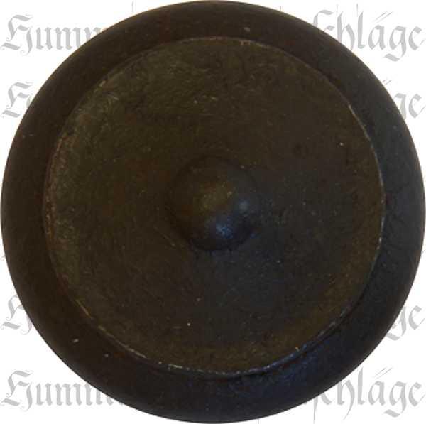 Möbelknopf rustikal, antik, alt, Ø 30mm, Eisen gerostet und gewachst, gedreht, Möbelknöpfe rustikale