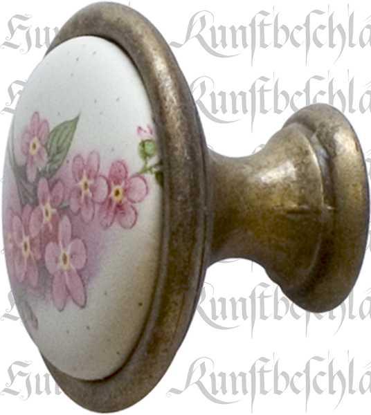 porzellankn pfe f r einen alten schrank m belknopf landhaus m belkn pfe keramik altvermessingt. Black Bedroom Furniture Sets. Home Design Ideas