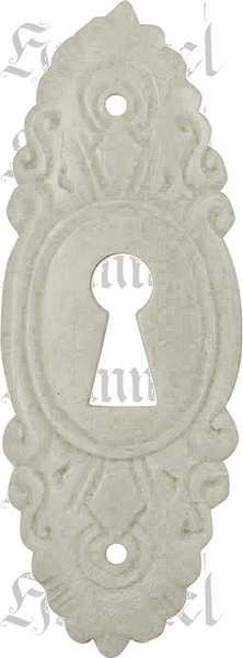 Schlüsselschild, Bein, weiß, Beinbeschlag. Aus Tierknochen bzw. Horn handgefertigt