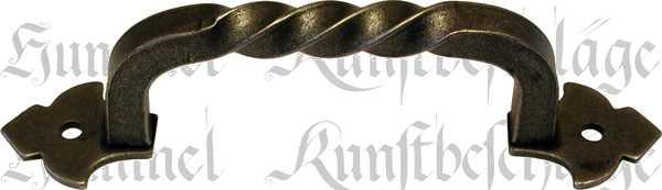 Möbelgriff Landhaus antik, Möbel Griff, Möbelbeschläge schmiedeeisen, Eisen altgrau, 126mm