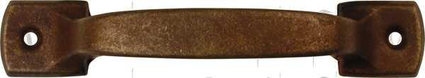 Möbelgriffe antik rustikal, Griff Eisen gerostet und gewachst, Möbel Beschläge des Jugendstil