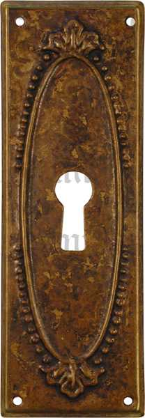 Schlüsselschild, Messing patiniert