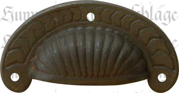 Wandregal Küche Antik ~ Muschelgriff Eisen gerostet braun alt antik, Muschelgriffe Küche, im