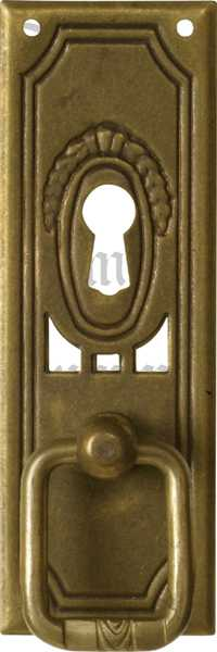 Ringgriff, Messing patiniert, Metallbeschläge antike
