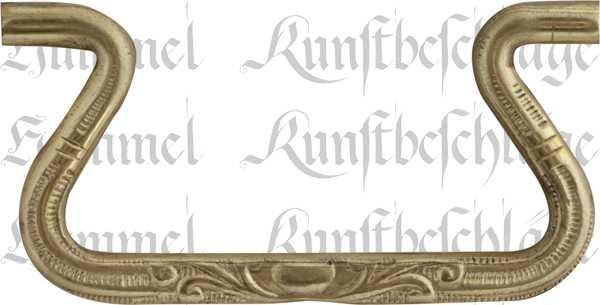 Bügel, Messing roh. Aus Draht gefertigt, geprägt