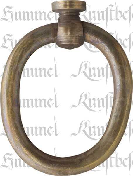 Ring, Messing patiniert. Aus Draht gefertigt, alter Griff Bügel 1950