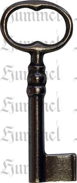 Schlüssel für antike Vitrinenschlösser, Eisen blank, alte Schlüssel