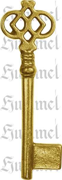 Schlüssel, Messing poliert unlackiert, nach antike, Modell