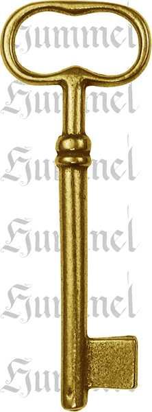 Schlüssel, Messing poliert unlackiert, schöner Nachguss vom Originalschlüssel