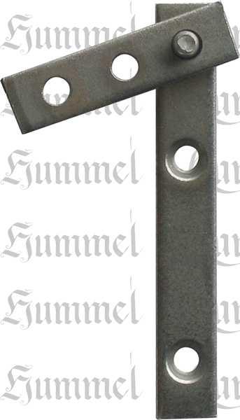 Zapfenband 70mm für oben+unten, für 1 Türe komplett, Eisen blank, Restaurierungsbedarf
