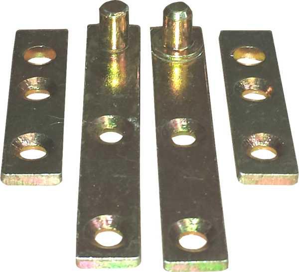 Zapfenband 50mm, Beschläge historisch, für oben+unten, für 1 Türe komplett, Eisen verzinkt