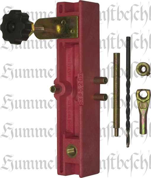 Bohrlehre für Einbohrbänder, Ø 11 mm, für Türen mit Überschlag