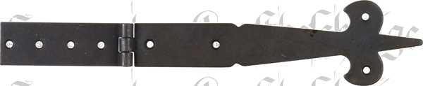 Truhenband antik, Truhenscharnier, Eisen schwarz. Kistenband aus Blech gestanzt und geprägt.