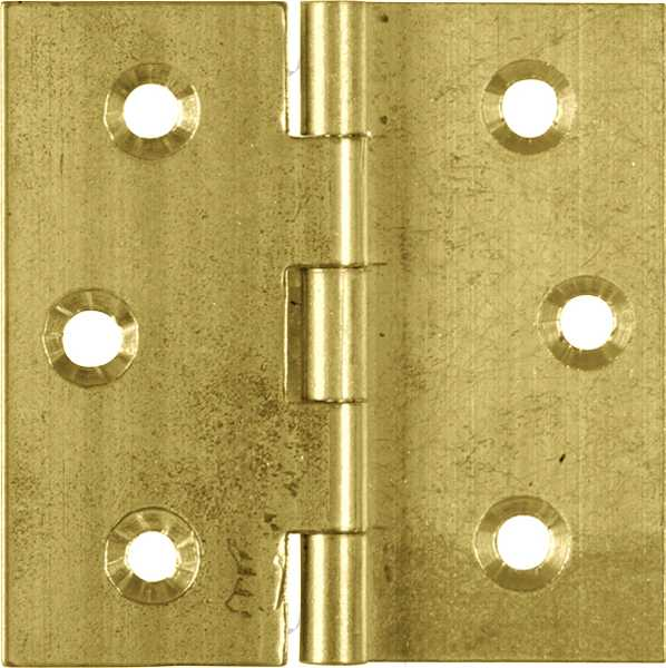 Berühmt Möbelband, in Messing roh, Kröpfung B, antike Möbelbänder 4243/50X50 DH04