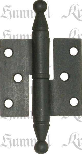 Möbelband rustikal, Eisen gerostet und gewachst, links