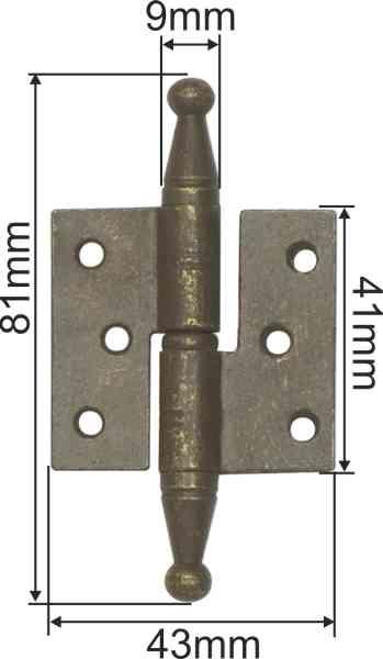 Möbelband rustikal, Eisen gerostet und gewachst, links Bild 3