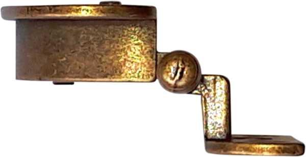 Topfbänder antik, Topf-Scharniere alt mit Zierköpfen rustikal, altvermessingt Bild 3